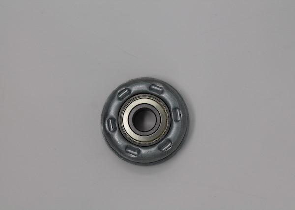 Tragrolleneinsatz aus Stahl für Rohr 80mmx2,0mm