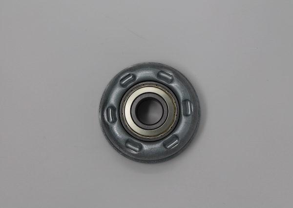 Tragrolleneinsatz aus Stahl für Rohr 89mmx3,0mm